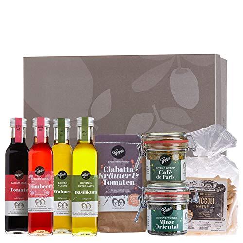 Gepp's Feinkost Salatliebhaber Paket I Premium Essige & Öle für vielseitige Dressing-Kombinationen, dazu Ciabatta Brotbackmischung, Grissini und 2 aromatische Dips als Begleitung zum Salat (A0041)