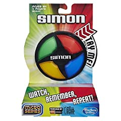 Simon Micro Series game is fast-paced, compact fun Follow the game's commands to Bop it, Twist it and Pull it in the right sequence You get a point for each command you complete 2 game modes: Solo or Pass It Includes electronic game unit and instruct...