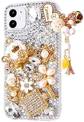 Max ABC Compatible with iPhone 12 Pro Max Case 3D Glitter Pumpkin Car Sparkle Bling Case Luxury product image
