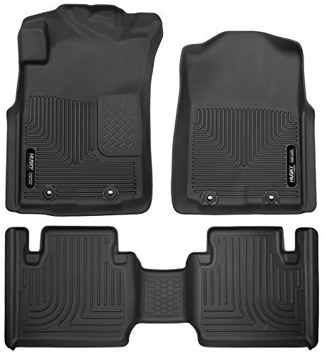 Husky Liners 53701-53831 - X-Act Contour - First and Second Rows All Weather Custom Fit Floor Liners for 2012-2015 Toyota Tacoma Access Cab