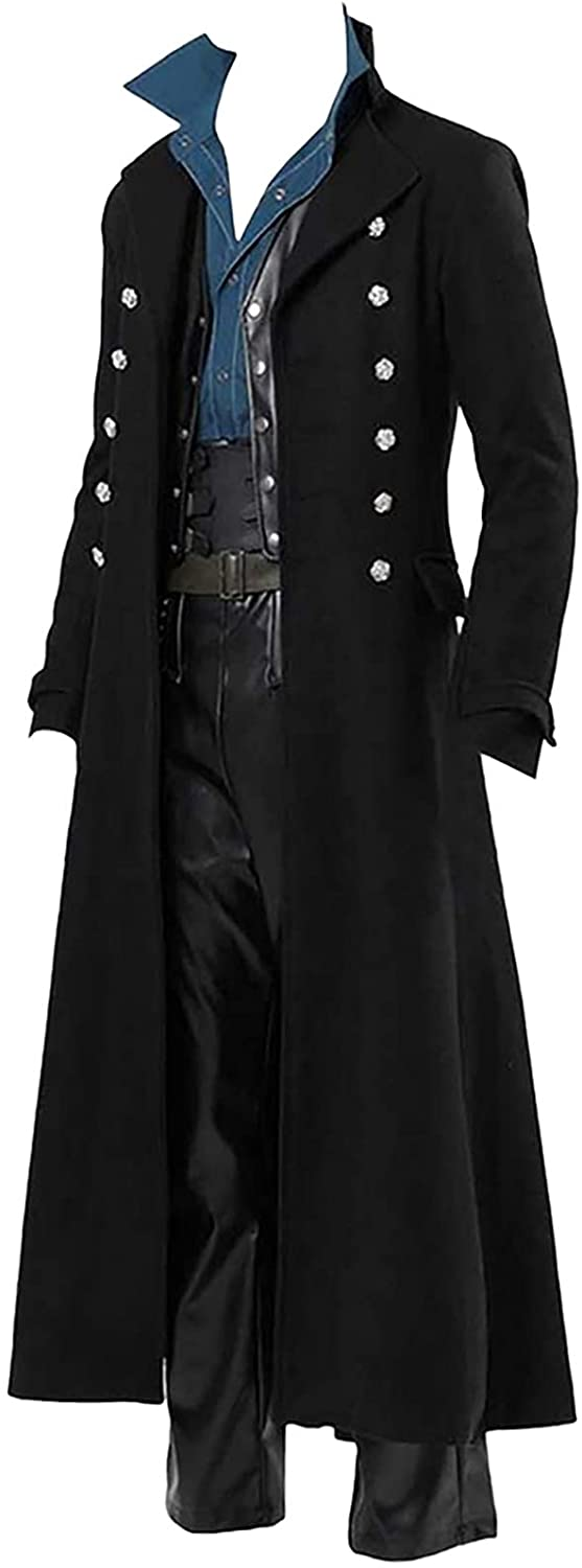Ranking TOP4 BIONIO Halloween Costumes for Now free shipping Men Vintage Steampunk Tailcoat Jac