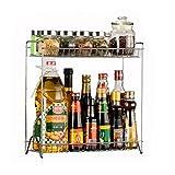 OviTop Étagère de Cuisine Étagère à épices, Condiments, Huiles, Vinaigres 38 x 15 x 37,5cm