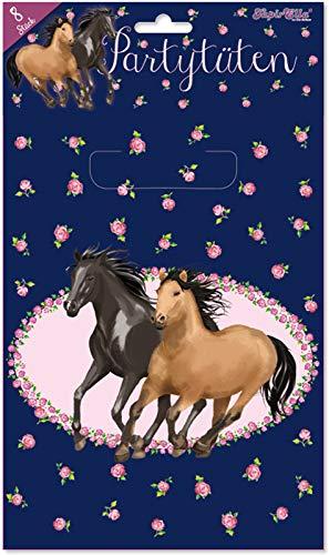 8 Partytüten * Pferde Freunde * für Mitgebsel zum Kindergeburtstag und Mottoparty | 10153 von Lutz Mauder | Pferd Reiten Pony Ponyhof Kinder Geburtstag Geschenktüten Mitgebsel Tüten Party Geschenke