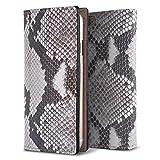 docomo AQUOS PHONE SH-01D ダイヤモンドパイソン 蛇本革/ヘビ柄 手帳型スマホケース