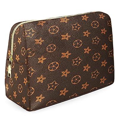 Domire Portable Makeup Bag, Vegan Leather Large...