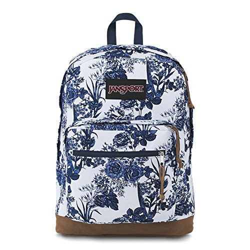 JanSport Right Pack Expressions Laptop Backpack - White Artist Rose