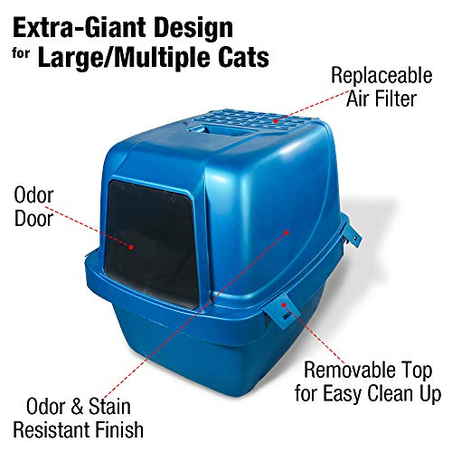 Van Ness CP77 White Enclosed Sifting Cat Pan/Litter Box, Extra Large (225026)