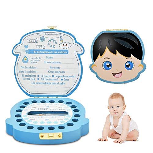 Caja para Dientes de Bebé en Español, Caja para Guardar Dientes de Leche de Niño y Niña, Caja Ratoncito Pérez Personalizada, Fabricación artesanal