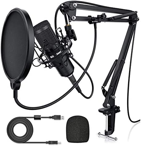 USB Condenser Microphone for Computer Plug Play 192KHZ 24BIT Cardioid Studio Mic Streaming Podcast product image