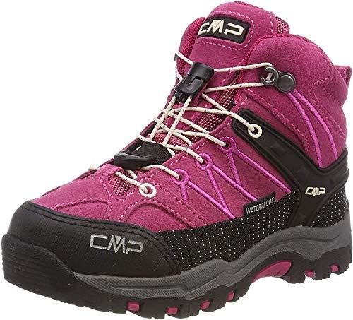 CMP Unisex-Kinder Kids Rigel Mid Shoe Wp Trekking- & Wanderstiefel, Pink (Geranio-Off White 10hc), 31 EU