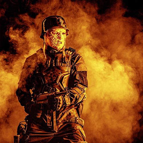 Posterazzi PSTZAB103012M Ugly Burnt face of Futuristic Nazi Soldier Wearing a Steel Helmet Photo Print, 11 x 17, Multi