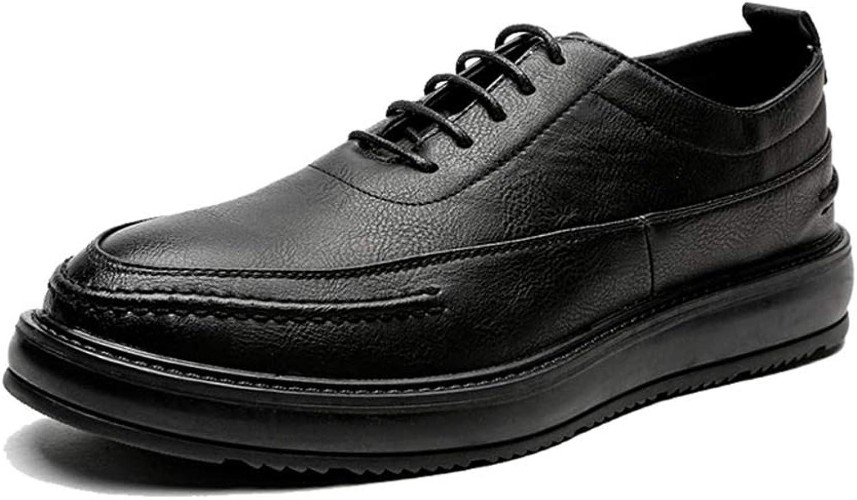 Fang-schuhe, 2018 Herrenmode Oxford Schuhe, Casual Trend Komfortable britischen Stil Sohle Formelle Schuhe (Lackleder optional) (Farbe   Schwarz, Größe   45 EU)  | Attraktives Aussehen