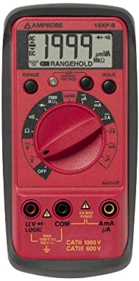Amprobe Compact Digital Multimeter with Non-Contact Voltage Indicator and Logic Test Traceable Calibration Certificate with Data