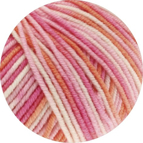 Lana Grossa Cool Wool Print 726 - Rosa/Pink/Koralle/Natur