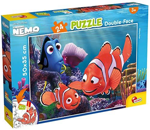 Lisciani Puzzle para niños de 24 piezas 2 en 1, Doble Cara con reverso para colorear - Disney Nemo 86481