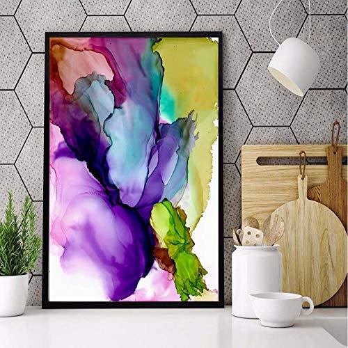 Sanzangtang kleurrijke afbeeldingen abstract en bedrukt op canvas schilderij woonkamer wanddecoratie huisdecoratie schilderij lijst