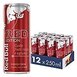 Red Bull Energy Drink Gusto Frutti Rossi e Agrumi, 12 lattine da 250 ml