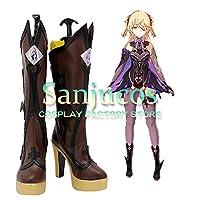 フィッシュル 原神 げんしん Genshin コスプレ 靴 ブーツ コスプレ靴 cosplay オーダーサイズ/スタイル 製作可能 【Sanjucos】(サイズオーダー)
