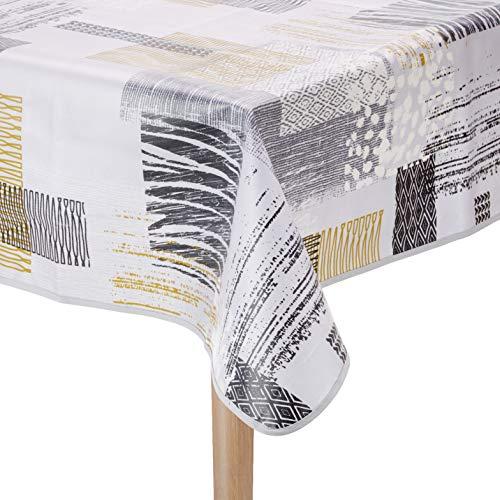 Nydel EW363083813 Texure Ethnic tafelkleed, vuilafstotend, vierkant, 160 x 160 cm, grijs