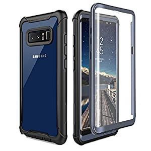 [PERFECT FIT] Designed for Galaxy Note 8, easily access buttons, speaker, camera, charging interface and S Pen port at the precise cutouts made from precision molding. [BUILT-IN SCREEN PROTECTOR] Polycarbonate front case with built-in screen protecto...