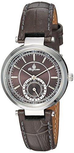 Burgmeister Armbanduhr für Damen mit Analog Anzeige, Quarz-Uhr und Lederarmband - Wasserdichte Damenuhr mit zeitlosem, schickem Design - klassische, elegante Uhr für Frauen - BM336-190 Celina