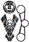 KIT S1000 RR 3 Stickers 3D Protection kompatibel für Motorrad BMW S1000RR 2015-2017