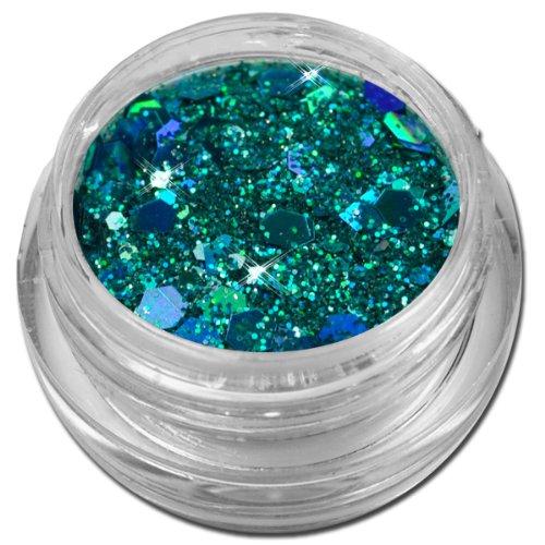Glamour Mix Glitter Glitzer Puder Blau Türkis Nailart