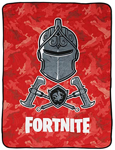 Jay Franco Black Knight Red Camo Throw Blanket (Official Fortnite Product)