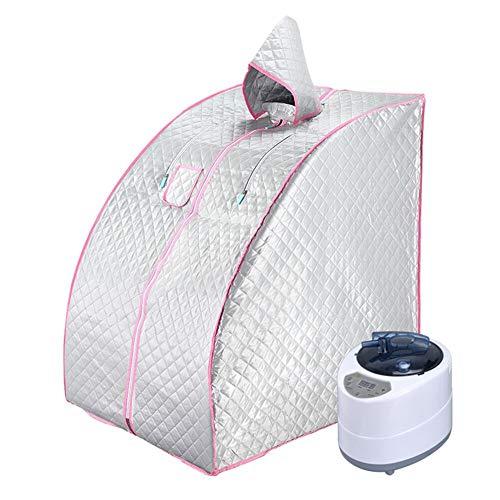 ALY Ångbastu hemmabruk bärbart spa-tält, spa slappna av fördelaktig hud förlora kalorier vikt håll huden frisk, med stol, ånggenerator etc, D