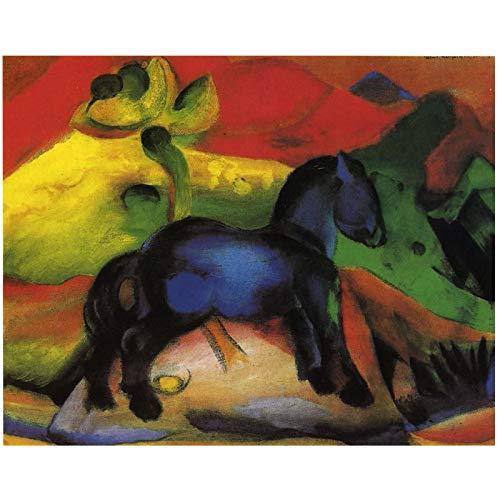 Franz Marc The Little Blue Horse 1912 Reproducciones de pintura de la firma Pintura al óleo firmada por el autor Impreso en lienzo - 65x85cm Sin marco