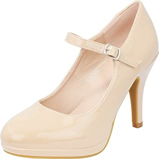 Cambridge Select Women s Mary Jane Closed Round Toe Buckled Strap Platform  High Heel Pump 22a0010d2e83