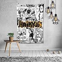 ハイキュー タペストリー 個性ギフト インテリア 壁飾り アニメ ウォールデコ リビングルーム 部屋 ベッドルーム 新居祝い 150*102cm