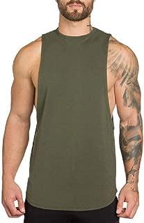 ZUEVI Men's Muscular Cut Open Sides Bodybuilding Tank Top