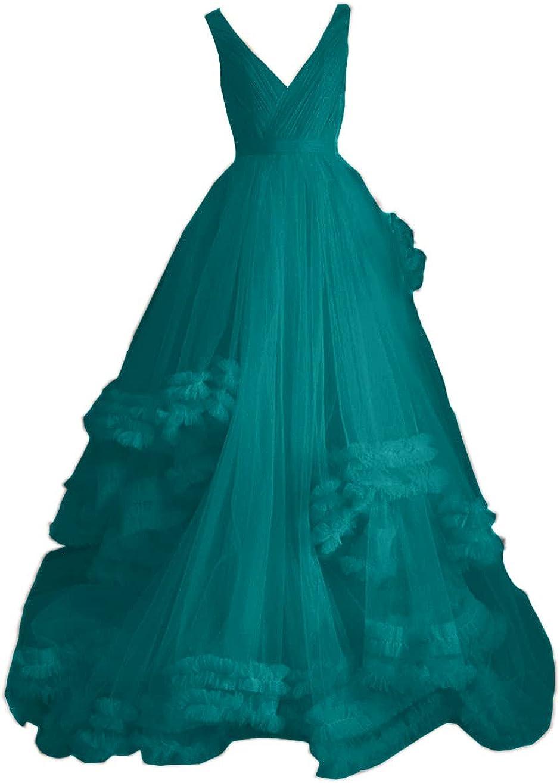 Mauwey Sales for sale Women's V Neck Tulle Popular standard Prom E Sexy Formal Dresses Irregular
