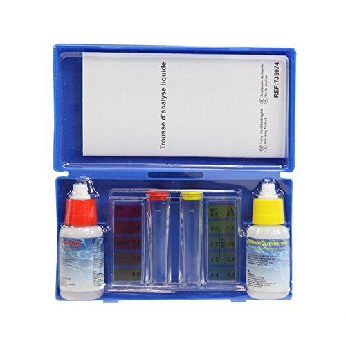 Générique Générique-735974 Trousse d'analyse Liquide Test ph et Chlore Piscine, 735974, Bleu
