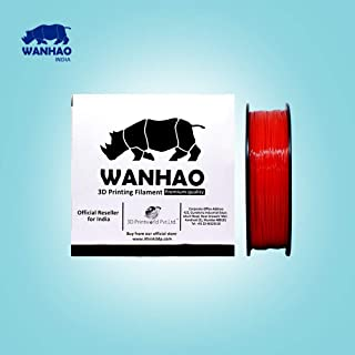 Wanhao 3.00mm ABS 3D Printer Filament - By 3D Print World (Red)