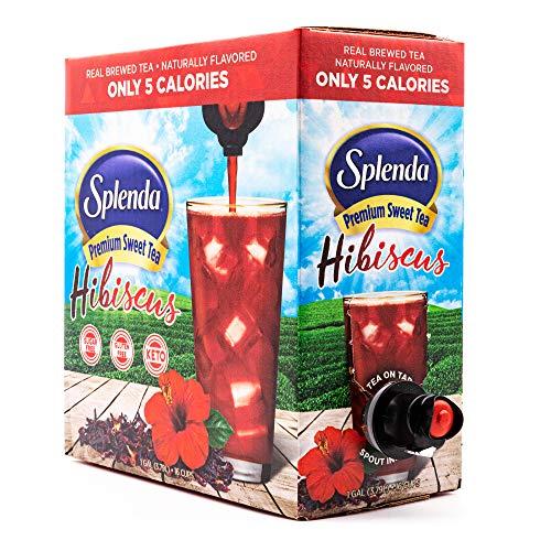 SPLENDA Hibiscus Premium Sweet Tea On Tap, Sweetened With Splenda (128 fluid ounces / 1 gallon) Bag In Box Liquid, Ready to Drink