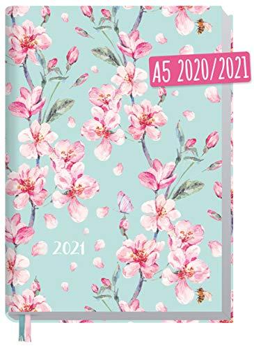 Chäff-Timer Classic A5 Kalender 2020/2021 [Floral] Terminplaner 18 Monate: Juli 2020 bis Dez. 2021   Wochenkalender, Organizer, Terminkalender mit Wochenplaner - nachhaltig & klimaneutral