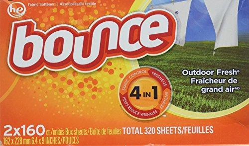 Bounce 2 cajas de hojas de secado al aire libre, 320 hojas en total