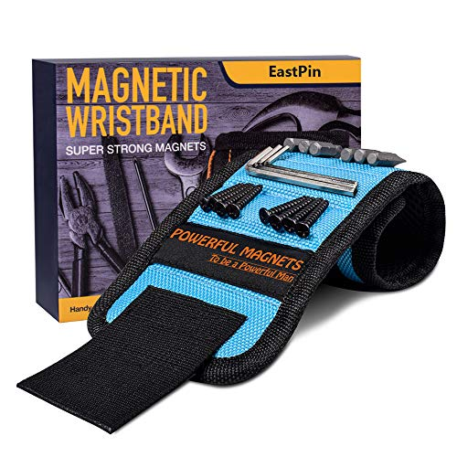 Gifts for Men, Magnetic Wristband,Unique Gift for Dad,Hasband,Him Tool Wrist Magnet, Gadgets for Men Upgrade Super Strong Magnets for Holding Screws, Tools, Nails, Drill Bits, Tool Belts