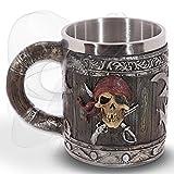 mtb more energy Jarra Hell's Grog - Imitación a Madera con un cráneo del Pirata - bucaneros...