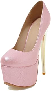 SJJH High Heels Women Court Shoes with Stiletto and Thick Platform for Wedding