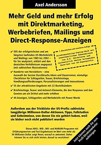 Mehr Geld und mehr Erfolg mit Direktmarketing, Werbebriefen, Mailings