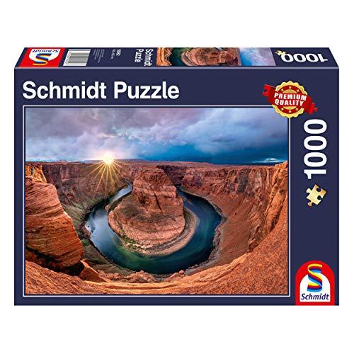 Schmidt Spiele 58952 Glen Canyon, Horseshoe Bend am Colorado River, 1000 Teile Puzzle, bunt