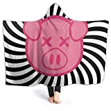 Needlove Shane Dawson Pig Spiral Logo Ultra Soft Light Weight Hooded Throw Blanket Comfy Fluffy Quilt for Bed Couch Sofa Living Room Picnic Suitable All Seasons 50' x40