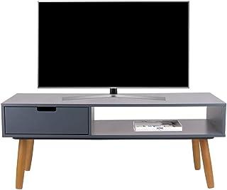 LIFA LIVING Mueble TV Gris, Mesa televisión de diseño