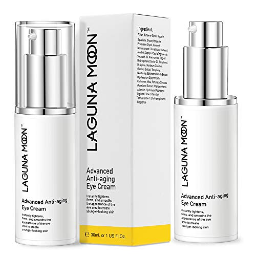 Lagunamoon Anti-Aging Eye Cream Quickly Remove Dark Circles, Puffiness, Wrinkles, Fine Lines, Under Eye Bags, Crow's Feet, and Sagging Eyelids, 1 FL Oz.
