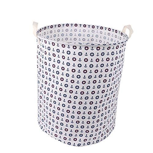 Cestas de almacenamiento de tela de algodón y lino plegable para la colada sucia, cesta de almacenamiento de lona impermeable para la colada (color: gancho grande, tamaño: 40 x 50/35 x 45/30 x 40)