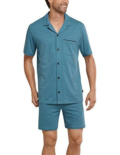 Schiesser Herren Schlafanzughose Pyjama Kurz, Blau (Blaugrün 817), XXXXX-Large (Herstellergröße 062)