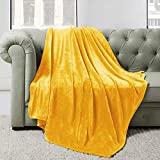 BEDELITE Fleece Blankets Yellow Throw Blankets for Couch & Bed, Plush Cozy Fuzzy Blanket 50' x 60', Super Soft & Warm Lightweight Throw Blankets for Fall and Winter